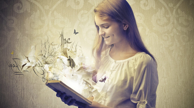 Image Shows that a young lady read book.