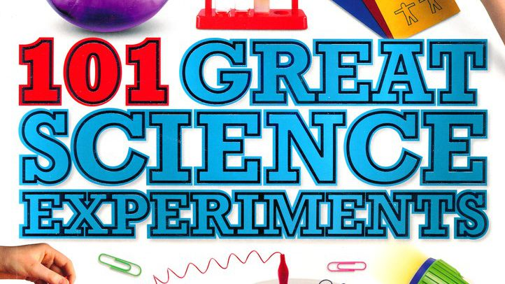 Great Science Experiments Text Written In Blue Color.