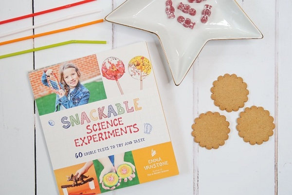 A Book About Snackable Snacks experiments By Emma Vanstone.