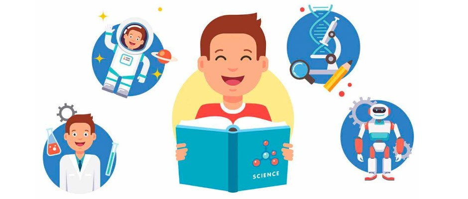 Science Books For Kids Concept.