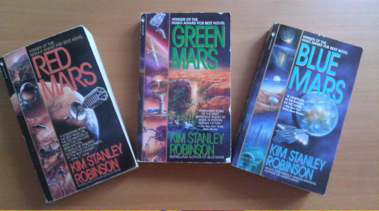 Best Three Science Fiction Book Series Placed On The Table
